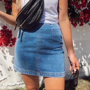 PacSun Denim Mini Skirt